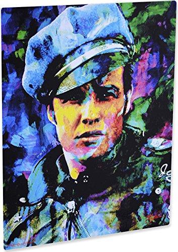 Marlon Brando Whadda Ya Got Pop Art Giclee Metal Print by Mark Lewis