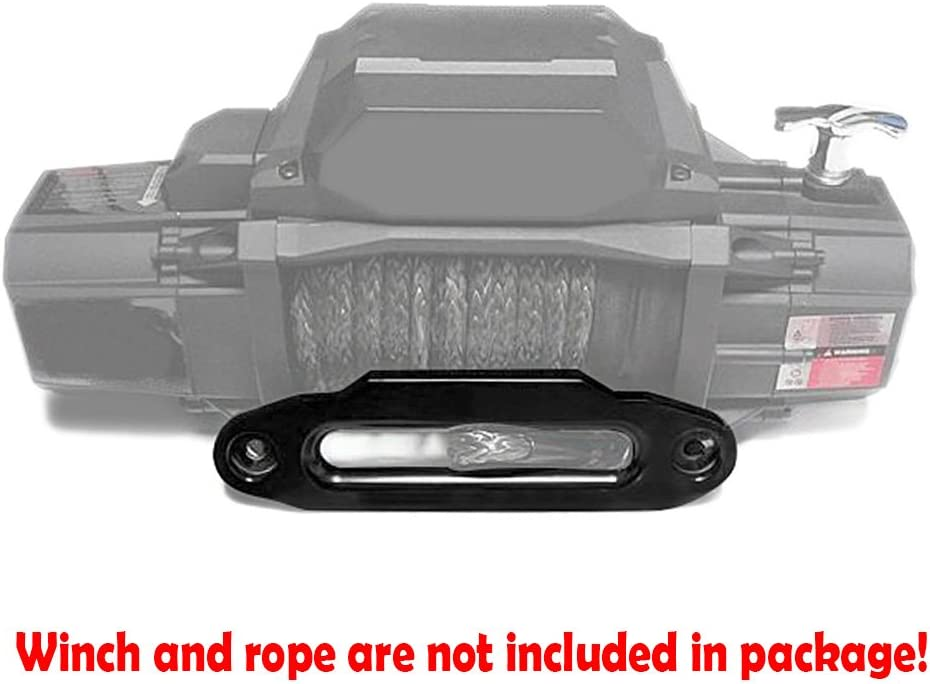 Astra Depot Silver 10 x 3 High-Grade Aluminum Hawse Fairlead ATV UTV Synthetic Winch Rope Cable 8000-15000 LBs