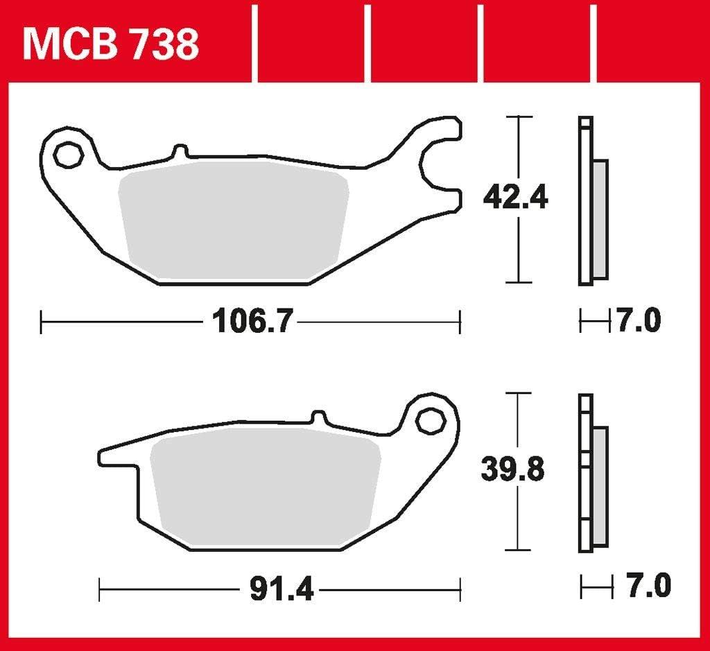 Bremsbelag TRW organischer Allround-Bremsbelag CBR 125 R JC39 07-10 hinten
