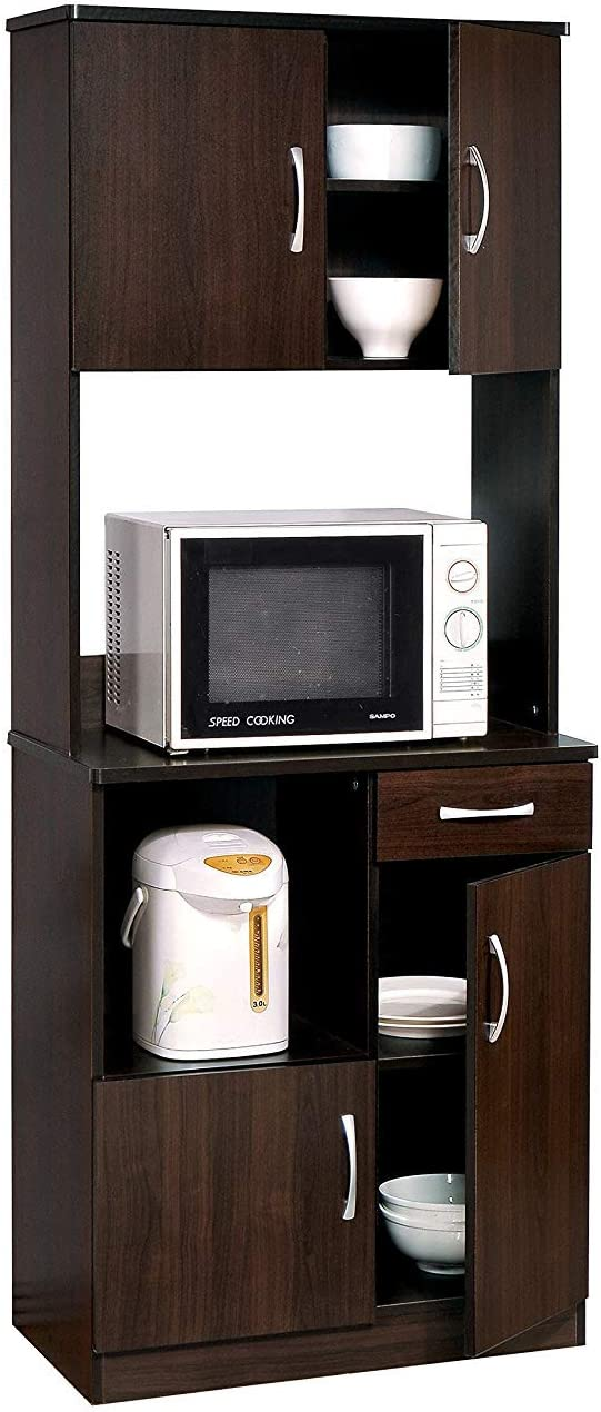 ACME 12258 Quintus Kitchen Cabinet Set, Espresso Finish