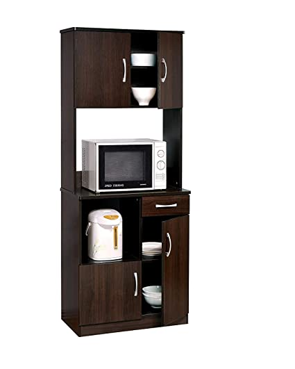 Acme 12258 Quintus Kitchen Cabinet Set Espresso Finish