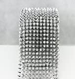AEAOA 2/3 Yard Silver Sew Stitch On Pointed Spike