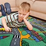 Road Map PlayTime Area Rug For Kids 3...
