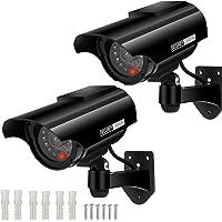 Cámara Falsa Cámara de vigilancia Falsa simulada con Bala Solar Cámara Domo CCTV de Seguridad con luz LED Intermitente…