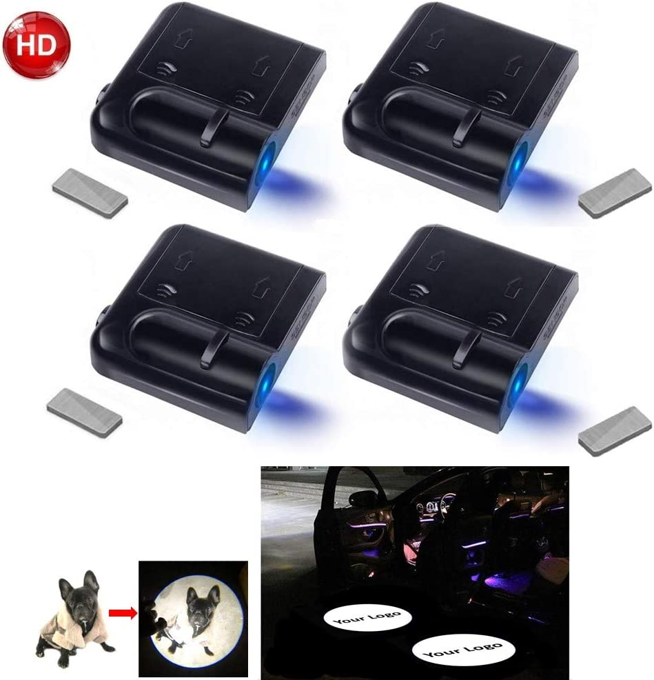 Upgraded Car Door Welcome Logo Projector Lights with 3.M Sticker,forN1SSAN JOJOY LUX 2 Pack Car Door Lights Logo Projector Universal Wireless Car Door Led Projector Lights