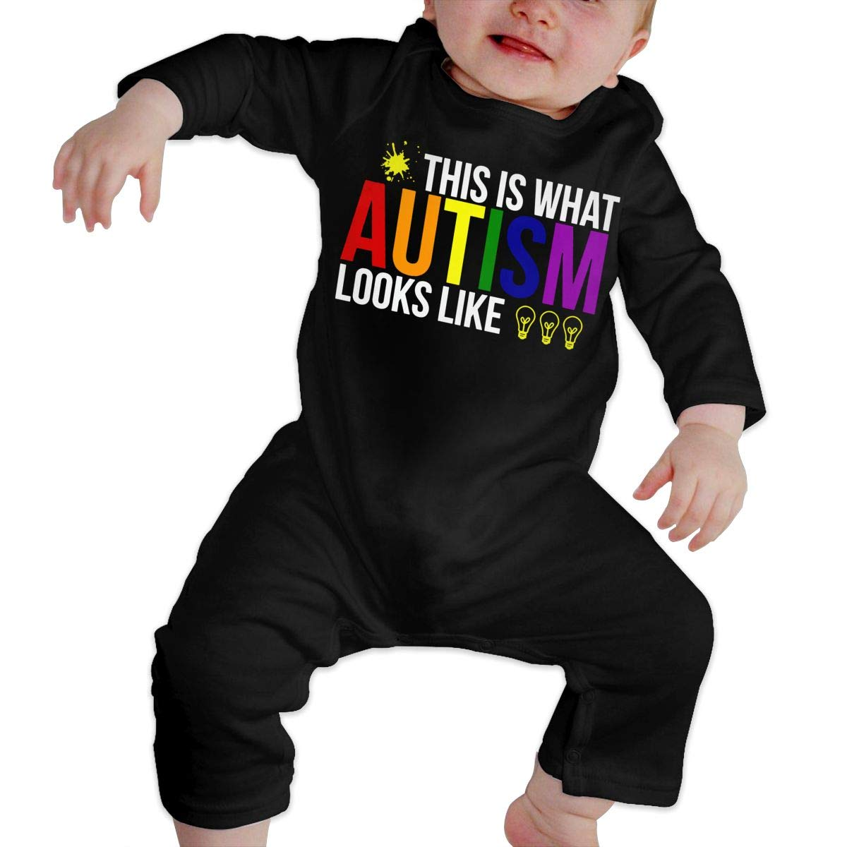 This is What Autism Looks Like Baby Boy Girl Long Sleeve Romper Jumpsuit Infant Romper Jumpsuit
