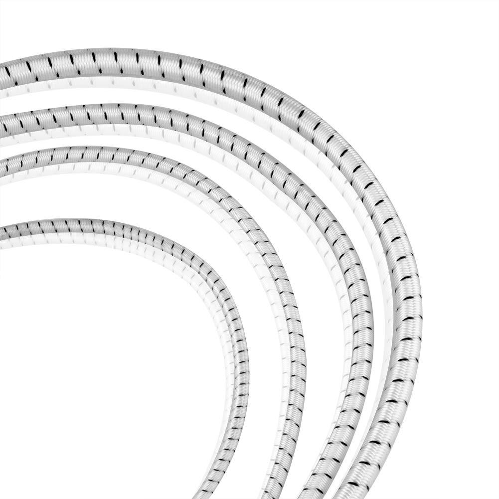 S S S SIENOC Expanderseil Gummiseil Gummischnur Spannseil Planenseil Gummileine elastisches Seil spannen Gummikordel und befestigen Gummileine Seil (Weiß  Schwarz, 5 mm - 200 m) B07MR56CSR Abspannseile König der Menge 441f27