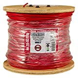 Cheap Vertical Cable Fire Alarm Cable, 16 AWG, 2 Conductor, Solid, Unshielded, FPLR (Riser), 1000ft Spool, Red – Made in USA