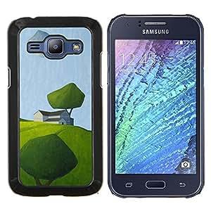 Stuss Case / Funda Carcasa protectora - Moderno Arte Pintura verde del campo del verano - Samsung Galaxy J1 J100