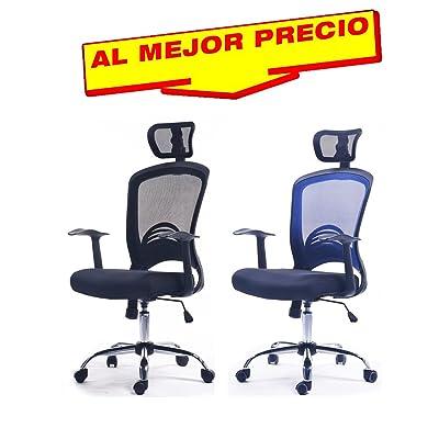 SILLA OFICINA RESPALDO ALTO CON CABECERO, BASE GIRATORIA SILLÓN ...