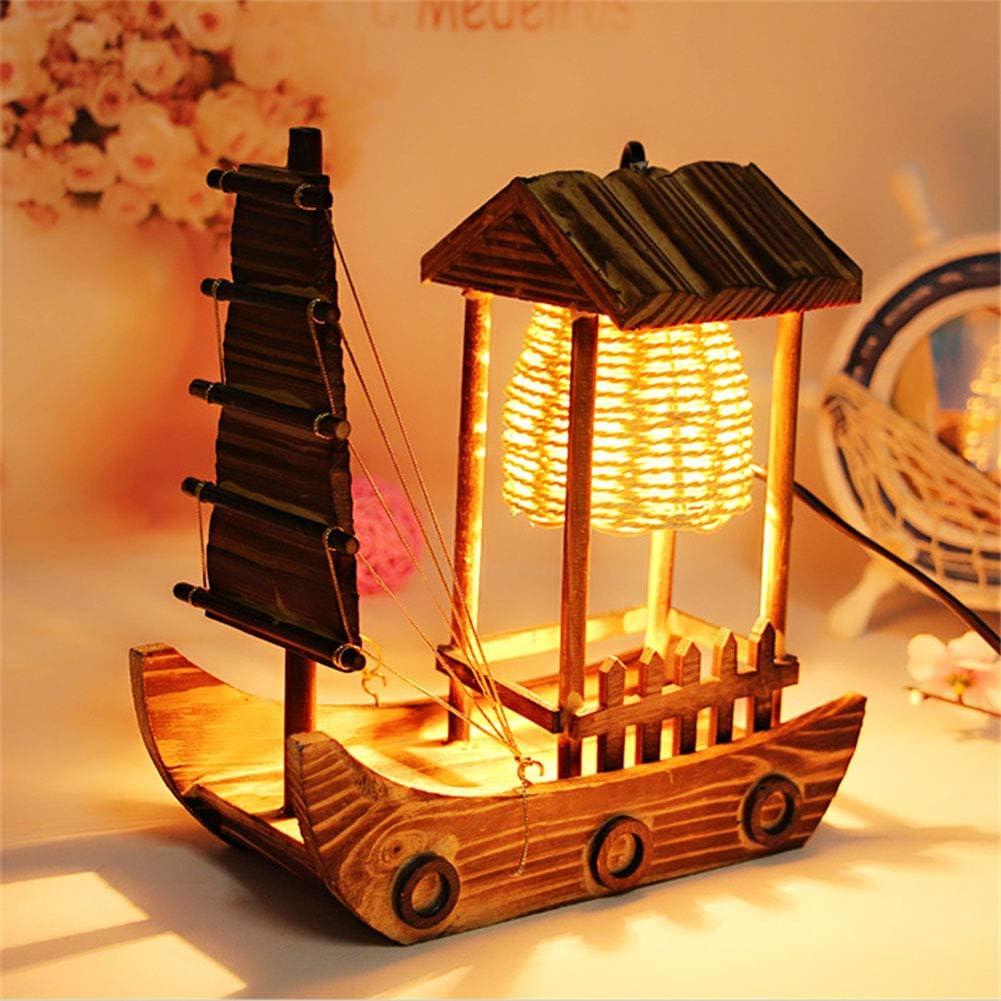XuBa Lámpara de Mesa de Barco de Vela para Embarcaciones de Madera ...