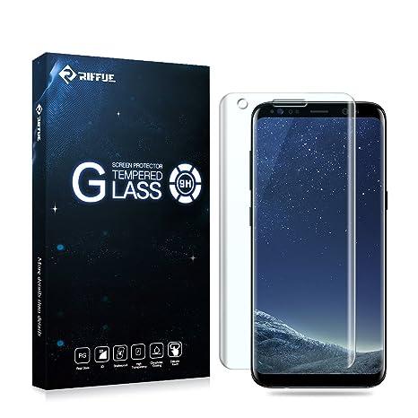 Samsung Galaxy S8 Plus Protector de Pantalla, Riffue Cristal Vidrio Templado [Alta Definición]