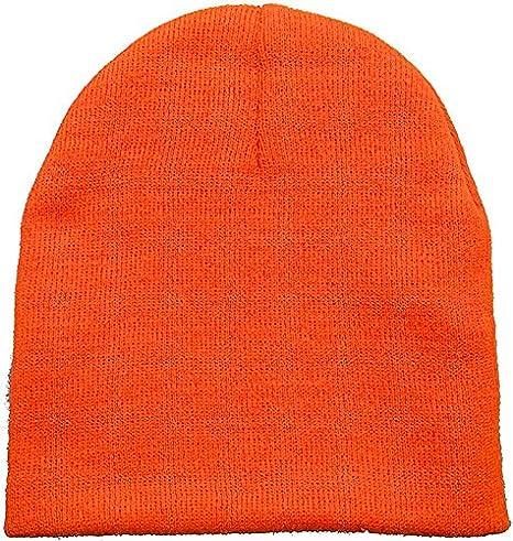 Amazon.com  Men   Womens Solid Color Plain Acrylic Knit Ski Beanie ... ee1159627