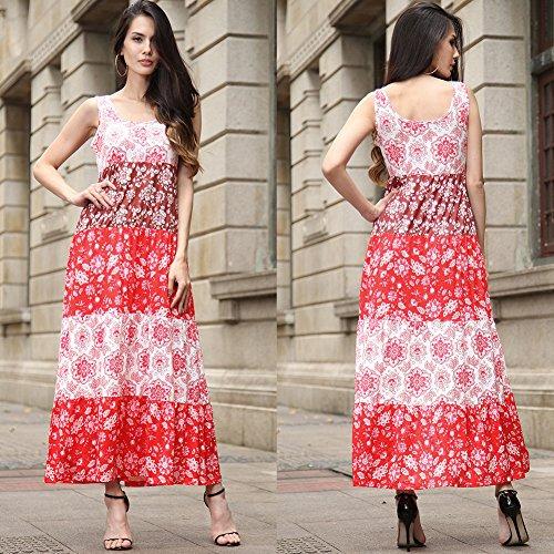Gules De Vestidos Falda Fiesta Femenina Para Florales Vestido Fiesta Vestir Estampados Mujer Vestidos JIALELE Mujer Playa npFZHtqxwU