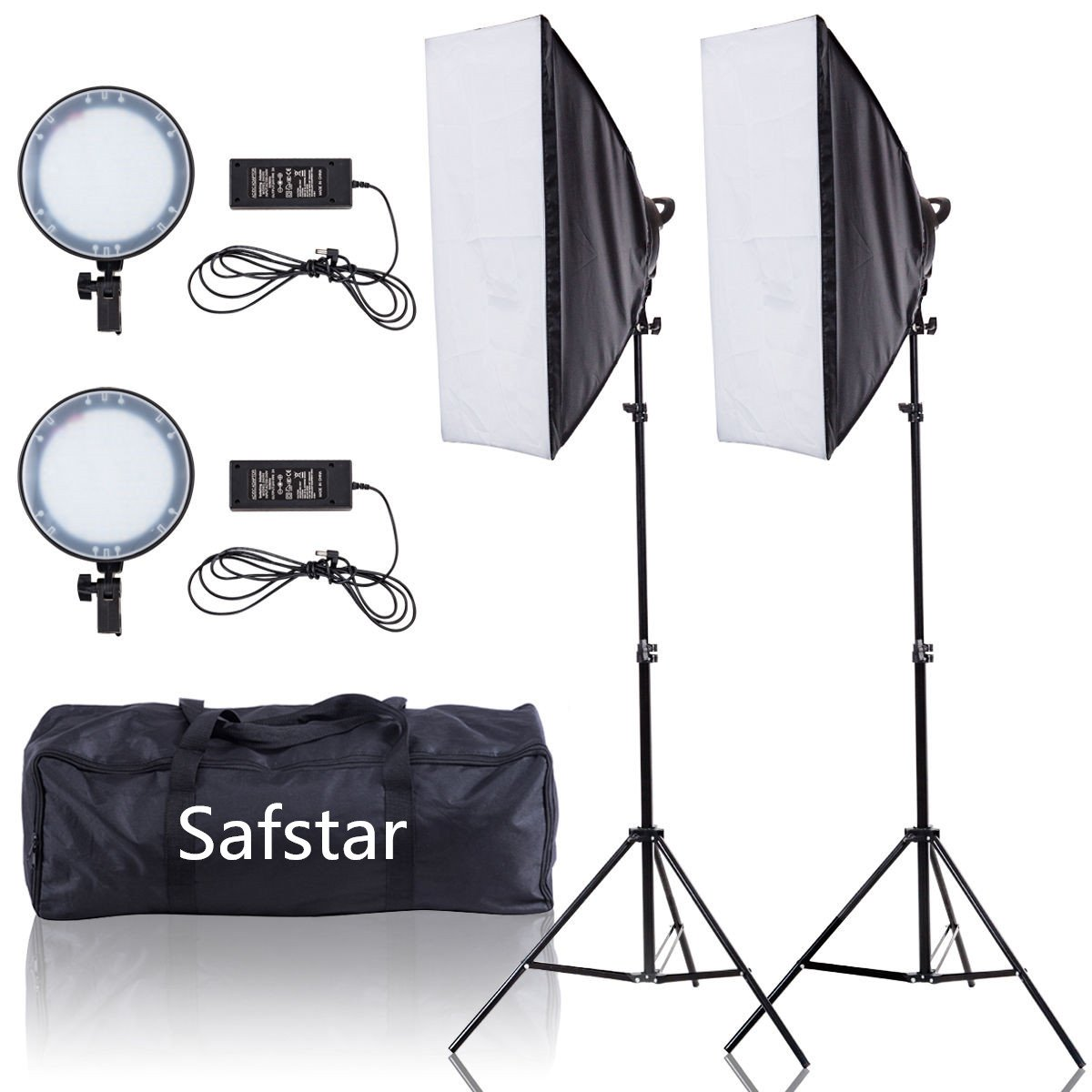 Safstar Photography Softbox LED Continuous Lighting Kit for Photo Video Studio 20''x27''(Day Light)