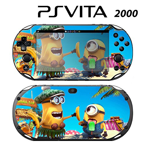 Decorative Video Game Skin Decal Cover Sticker for Sony PlayStation PS Vita Slim (PCH-2000) - Despicable Me Minions Banana Song (Despicable Me Game Playstation)
