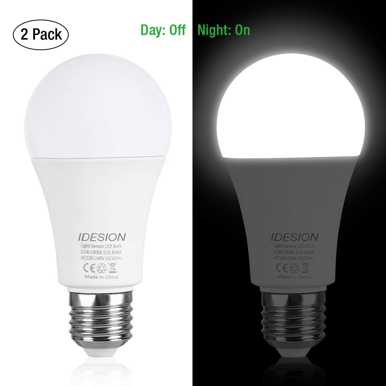 IDESION Sensor Lights Bulb Dusk to Dawn LED Light Bulbs