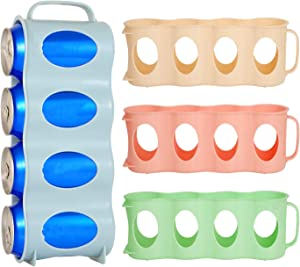 AinHome 4 Pack Refrigerator Soda Can Organizer Portable Beverage Beer Holder for Kitchen Cabinet Fridge Freezer Storage Dispenser Holds up to 16 Cans (4 Colors)