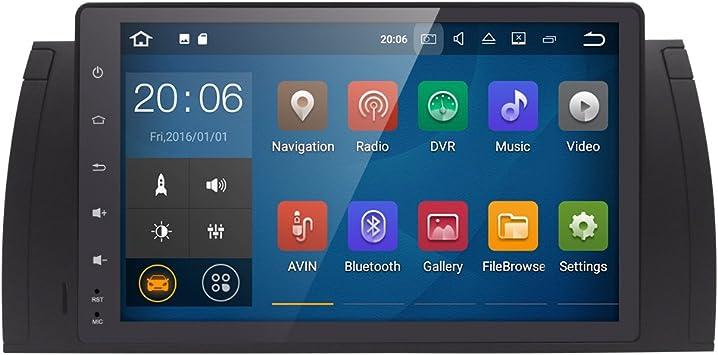 Radio para coche Android 7.1 de 9 pulgadas, doble DIN, estéreo, compatible con BMW E39 serie