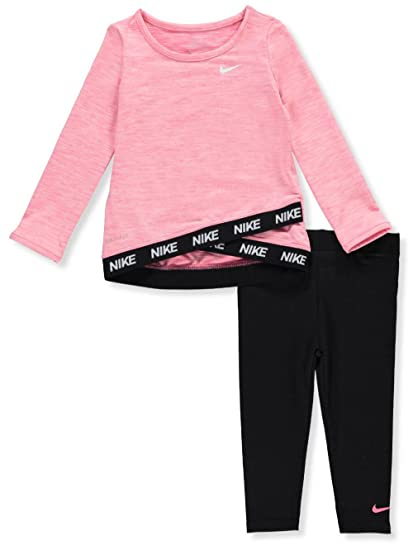 Amazon.com  NIKE Children s Apparel Baby Girls Long Sleeve Top and Leggings  2-Piece Set  Clothing 7f25be195