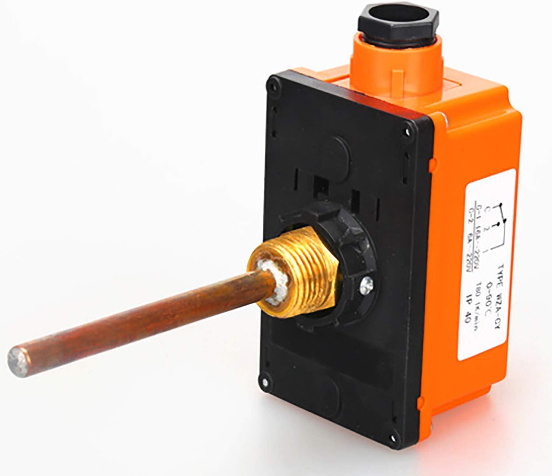 1//2 pouce thermostat immersion thermostat tuyau chaudiere 220v 16A Limite basse 100 degr/és Celsius 0~110 degr/és Celsius
