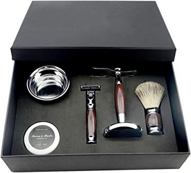 Herramientas de afeitado para hombres, peluquería, kit para el ...