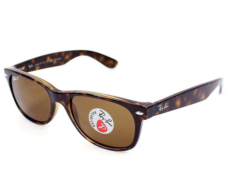 2528cdbcde5 Amazon.com  Ray-Ban RB 2132 902 57 55mm New Wayfarer Tortoise w  Brown  Polarized Lenses  Shoes