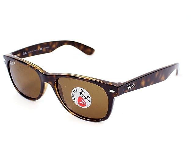b1d3925db3 Amazon.com  Ray-Ban RB 2132 902 57 55mm New Wayfarer Tortoise w  Brown Polarized  Lenses  Shoes