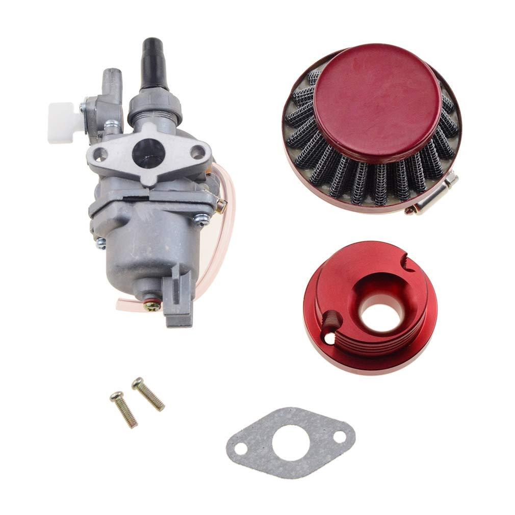 GOOFIT Rojo Carburador 13 Minimoto Chino con 44mm Filtro de Aire ...