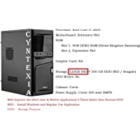 Cyntexia Desktop PC Computer Intel Core i7-2600 / 4GB DDR3 RAM / 120GB SSD / 500GB HDD/Operating System and Basic Software Installed/Plug and Start