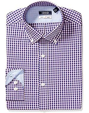 Men's Dress Shirts Slim Fit Stretch Check