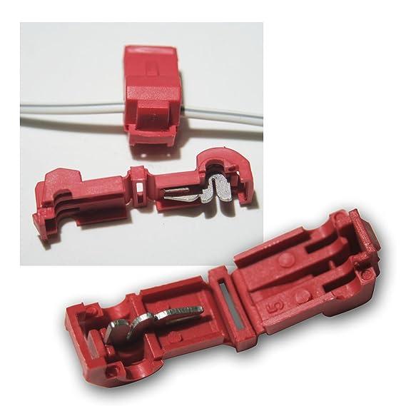 10 Abzweigverbinder für Kabelschuhe ROT: Amazon.de: Elektronik
