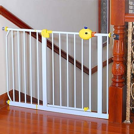 Barrera Seguridad Escaleras Entrada Puerta De Seguridad para Niños - Blanco Barrera Extra Alta para Perros/Bebé con Puerta De Paso De 90 °, Doble Cerradura De Seguridad (Size : W 125-134cm): Amazon.es: Hogar