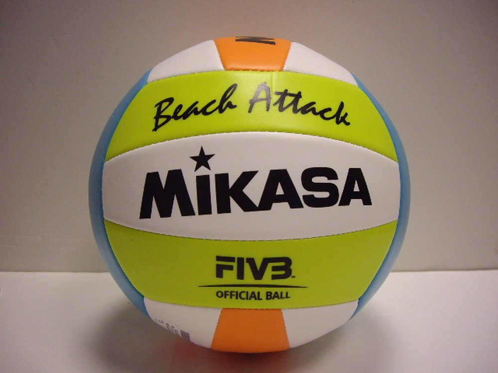 Mikasa Beach Attack Beachvolleyball Weiss-gelb-blau-orange 129161 9344
