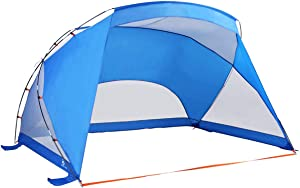 ALPHA CAMP 3 Person Sports / Beach Shelter Easy Up Sun Shade - 9' x 6' Blue