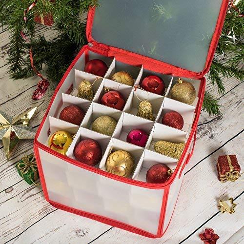 Caja de Almacenamiento para 64 Bolas de Navidad ASAB Color Blanco