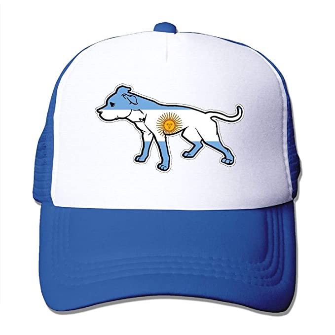 eff5414dc00 Guan Tong Two Tone Trucker Hat - Pit Bull Argentina Flag - Adjustable Mesh  Cap  Amazon.ca  Clothing   Accessories