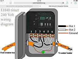 intermatic eh10 120-volt electronic water heater timer ... electric water heater element wiring diagram water heater timer wiring #7