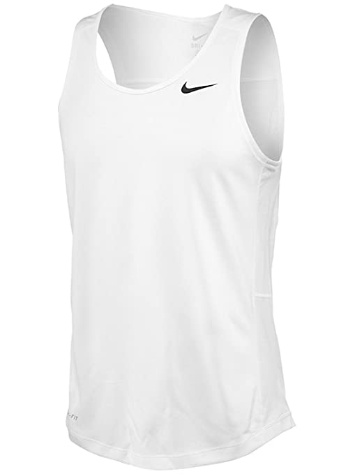 Amazon.com  Nike Men s Miler Singlet II 2X White  Sports   Outdoors 39184dcdf473
