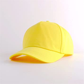OSISDFWA The Security Small Yellow Cap Student Baseball Cap Outdoor  Security Light Yellow Cap Schools Sports 93fd0eaf36d