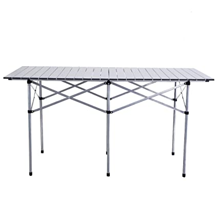 Groovy Amazon Com New 55 Aluminum Roll Up Camping Table Portable Download Free Architecture Designs Scobabritishbridgeorg