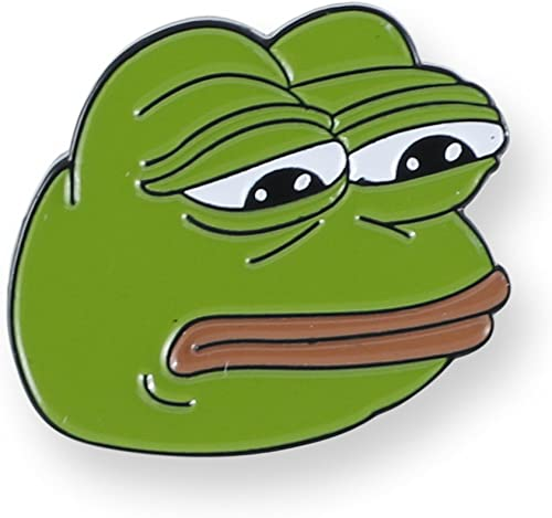 Forge Internet Meme Lapel Pins (Sad Pepe)