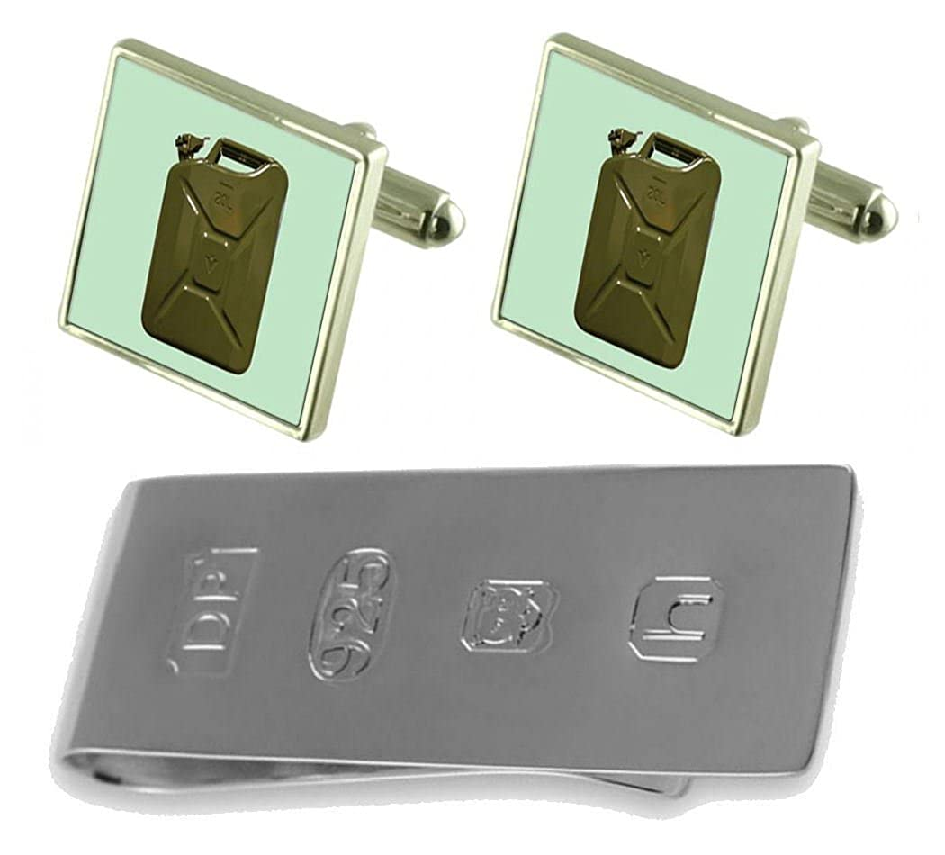 ジェリーFuel Can Cufflinks & James Bondお金クリップ B0785DW2LB