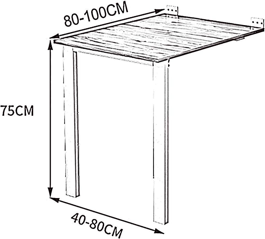 Mesa Cocina Plegable diseño Moderno abatible Funcional suspendida ...