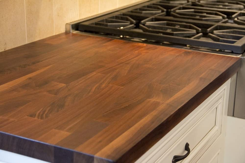 36 x 30 John Boos WALKCT-BL3630-O Blended Walnut Island Top with Oil Finish 1.5 Thickness