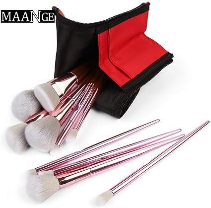 Aberimy #90 - Juego de 10 brochas de maquillaje con estuche para cosméticos: Amazon.es: Belleza