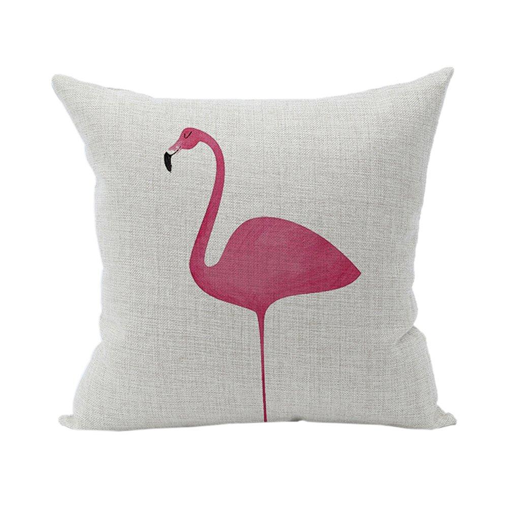Nunubee, federa per cuscino quadrata, in cotone morbido e caldo, ideale per decorare letto e divano, cotone/lino, White 20, 45cm*45cm/17.55'*17.55' 45cm*45cm/17.55*17.55 AMYBRIA INDUSTRIAL LIMITED HONG KONG 7005P2032