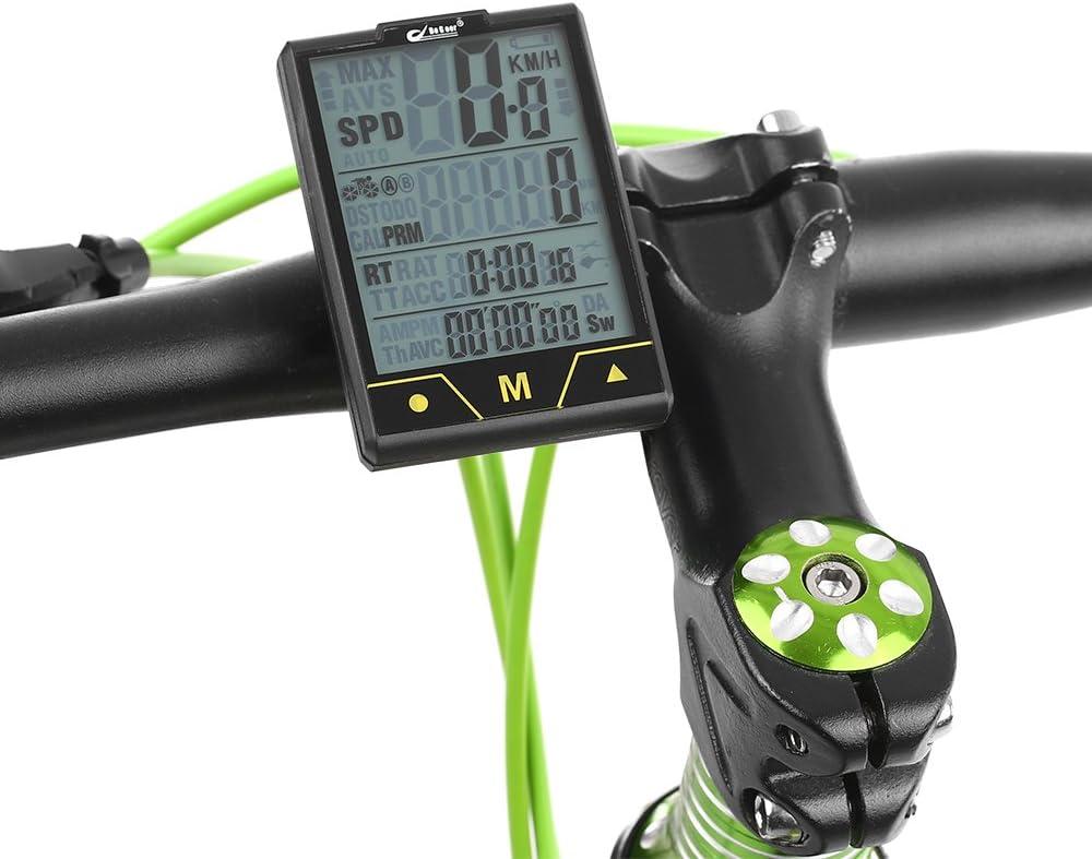 Lixada BOGEER Bicicleta Ordenador Inalámbrico/Wired Ciclisimo ...
