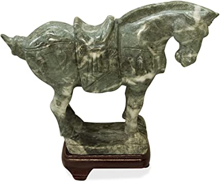 Asia Old China Hand carving bronze solid Riding a horse statue