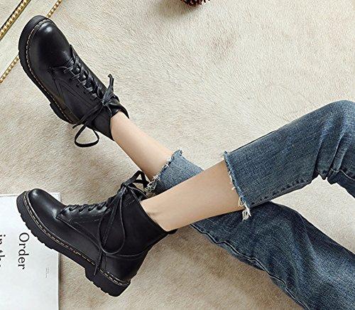 Classique Aisun Rond Plates Chaussures Femme Bout 5Oq6RO